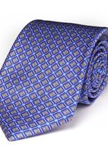 Blue & Gray Diamond Satin Tie