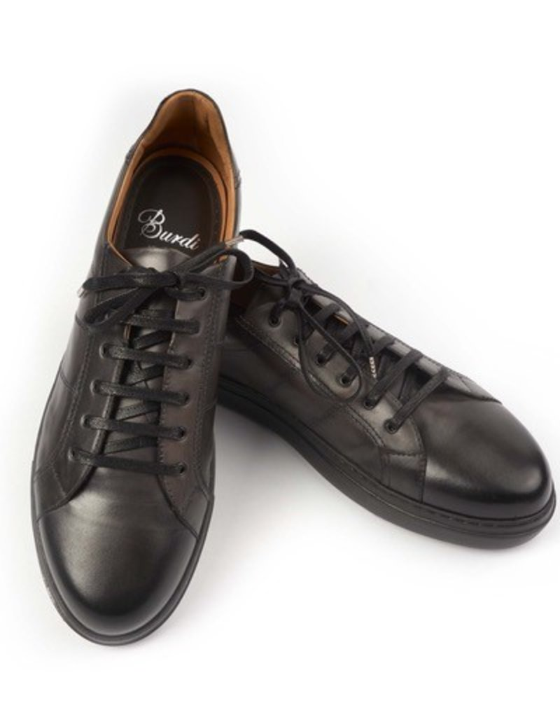 Dress Leather Sneakers, Rubber Sole, Handstained