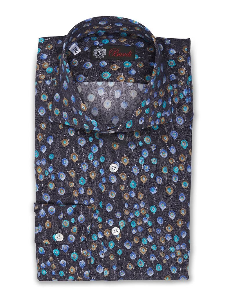 Peacock Print Shirt