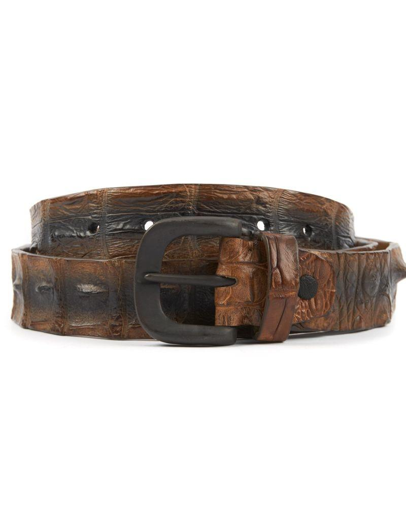 Hornback Crocodile Belt- Cognac