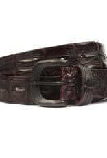 Hornback Crocodile belt- Wine