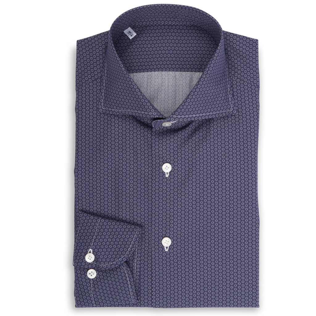 Blue Printed Shirt