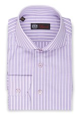 Purple & White Striped Shirt