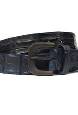 Hornback Crocodile belt- Blue
