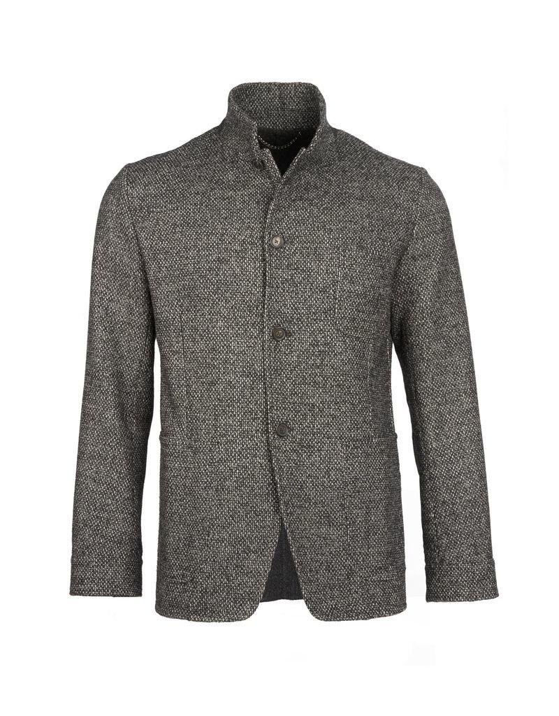 Charcoal Short Tweed Coat