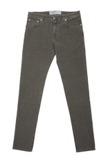 Jacob Cohen Velour Five-pocket Pants, Olive