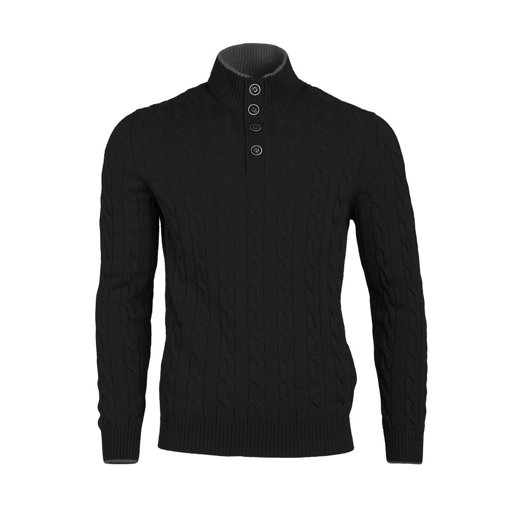 Cableknit Sweater - Black