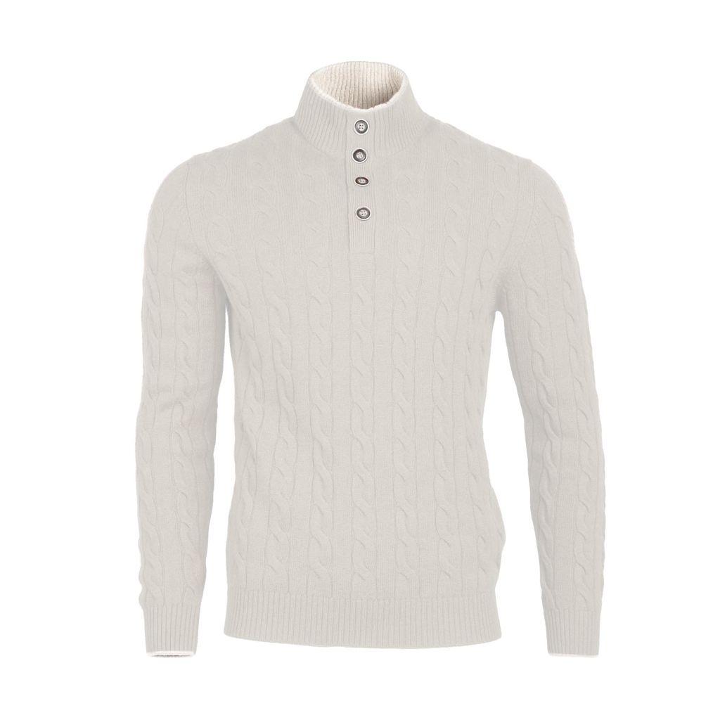 Cable Knit Sweater - Cream - Burdi