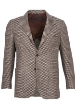 Inclusivo Unstructured Honeycomb Tweed Jacket - Tan & Brown