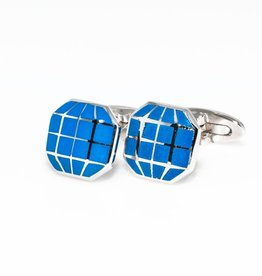 Blue Octagonal Cufflinks