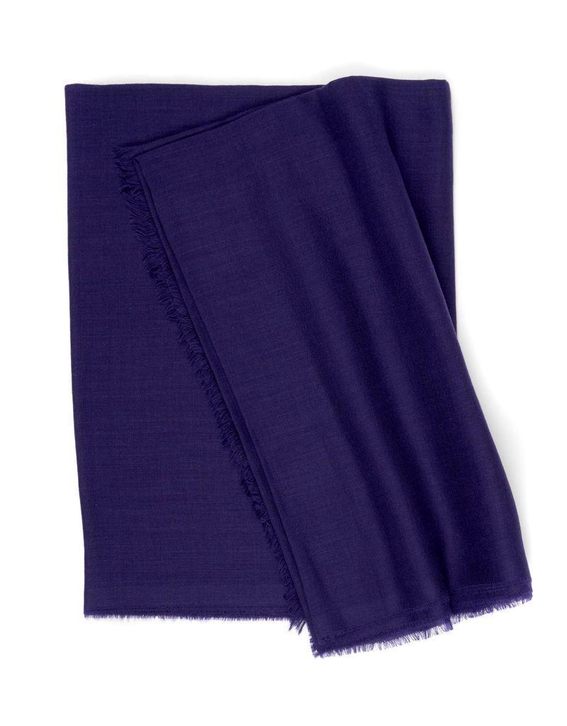 Superfine Cashmere Scarf, Purple