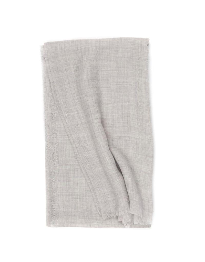 Superfine Cashmere Scarf, Lt Gray