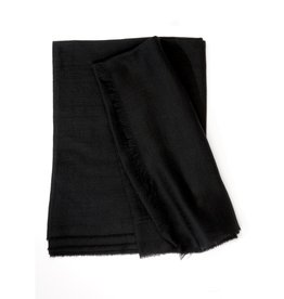 Superfine Cashmere Scarf, Black