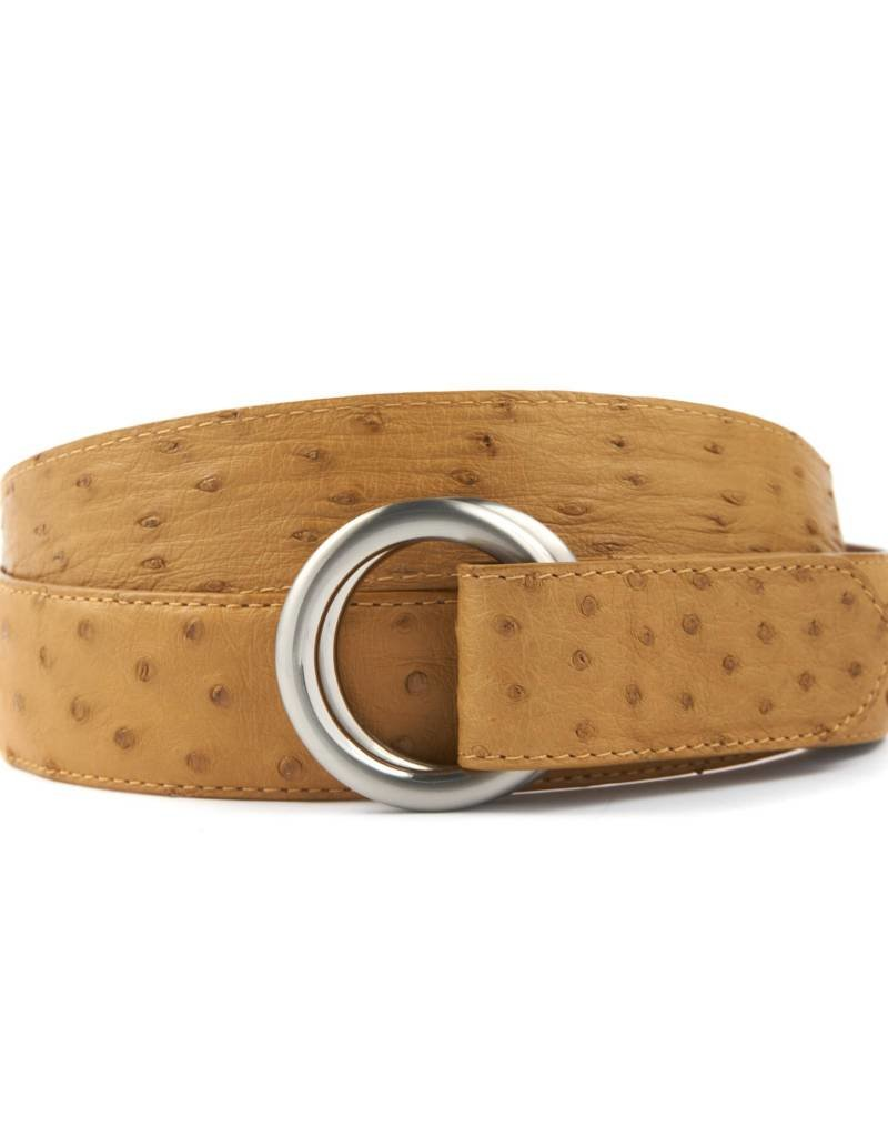 Ostrich Belt with O-ring buckle