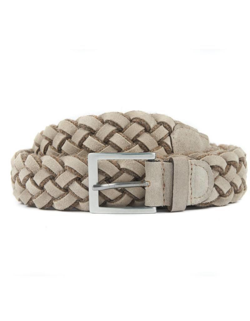 Wool & Suede Braided Belt