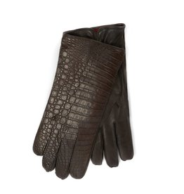 Crocodile Skin / Lamb skin Gloves with 100% Cashmere lining