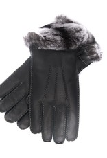 Leather Gloves with Rabbit Lining