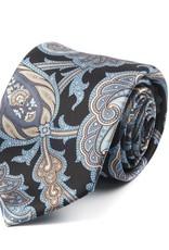 Printed Satin Floral Pattern Tie