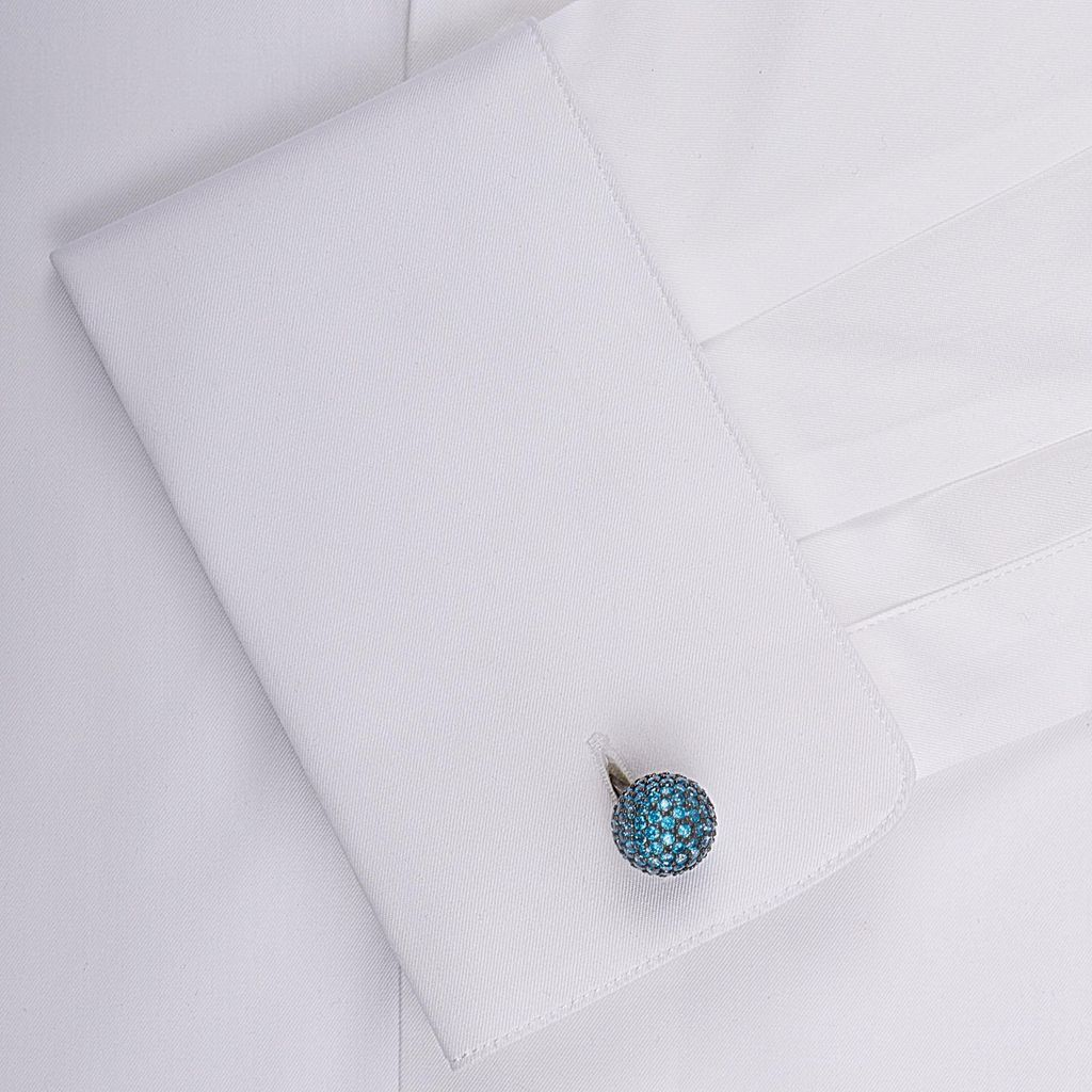 Gem Encrysted Dome Cufflinks