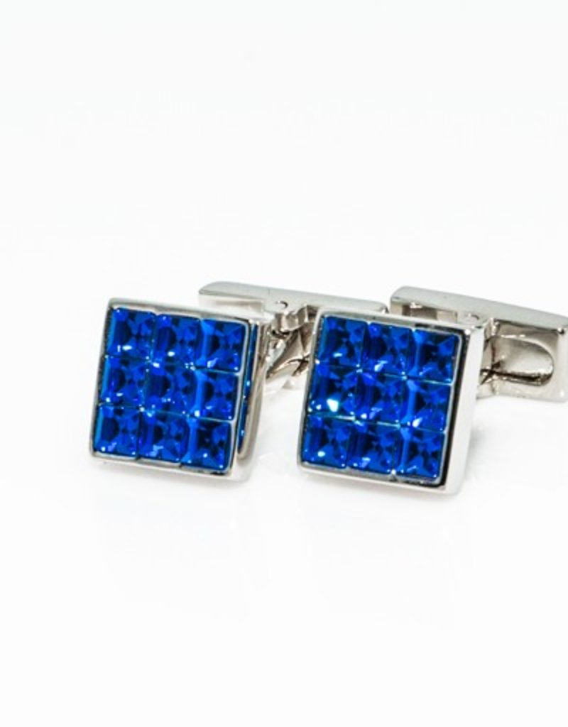 Blue Swarovski Mini Cufflinks