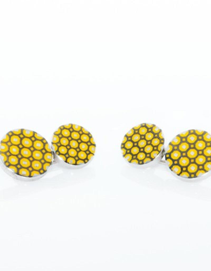 Yellow & Black Cufflinks