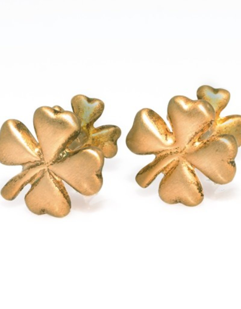 Gold plated Clover cufflinks