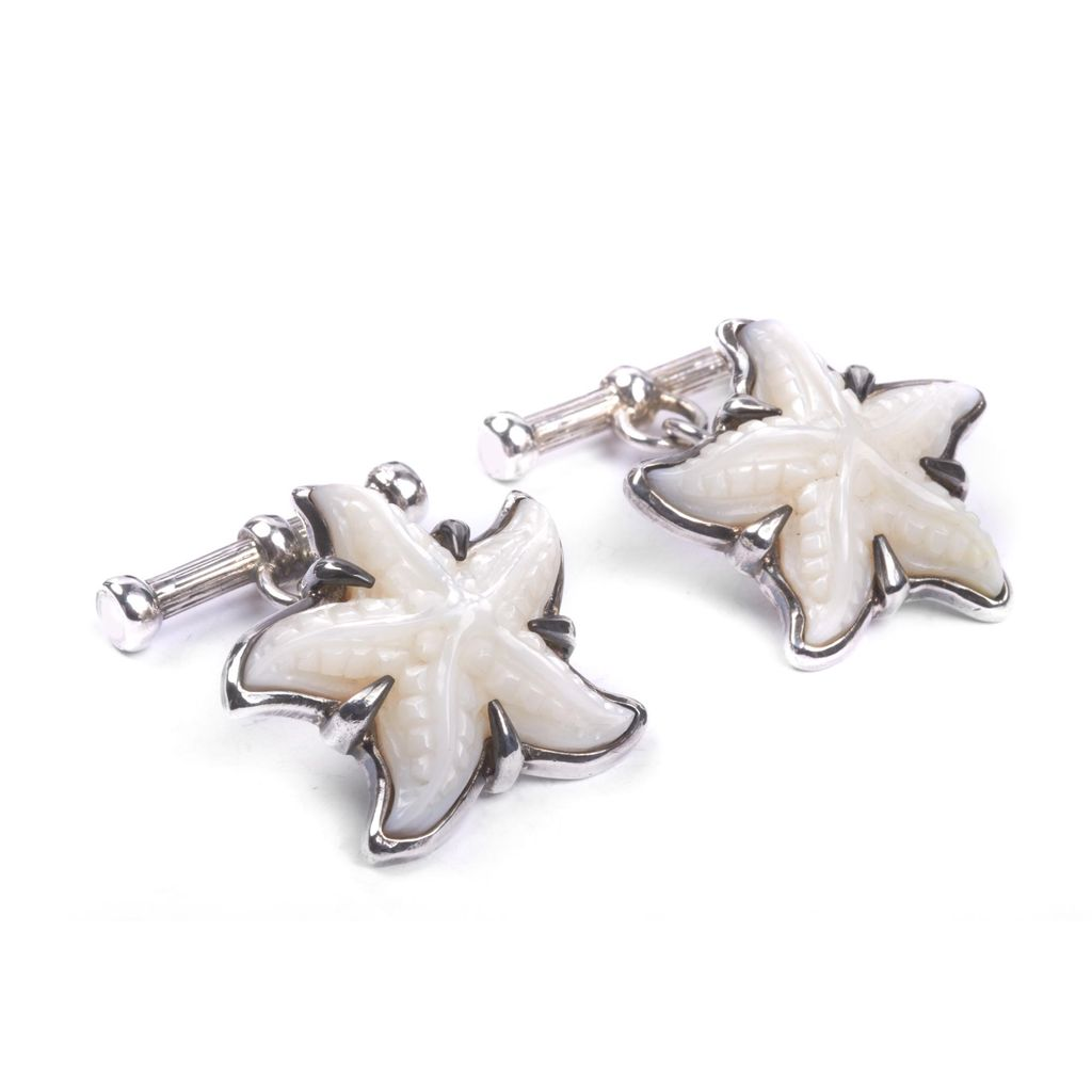 Starfish Mother of Pearl Cufflinks