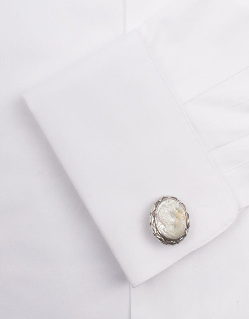 Mother of Pearl Naga Cufflinks