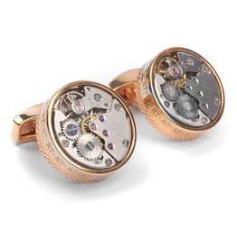 Pink Gold Plated Cufflinks