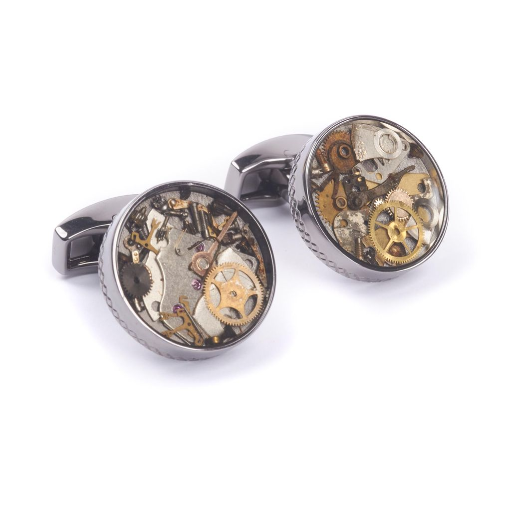 Gunmetal Watch gears Cufflinks