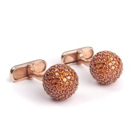 Peridot Encrusted cufflinks in Rose Gold