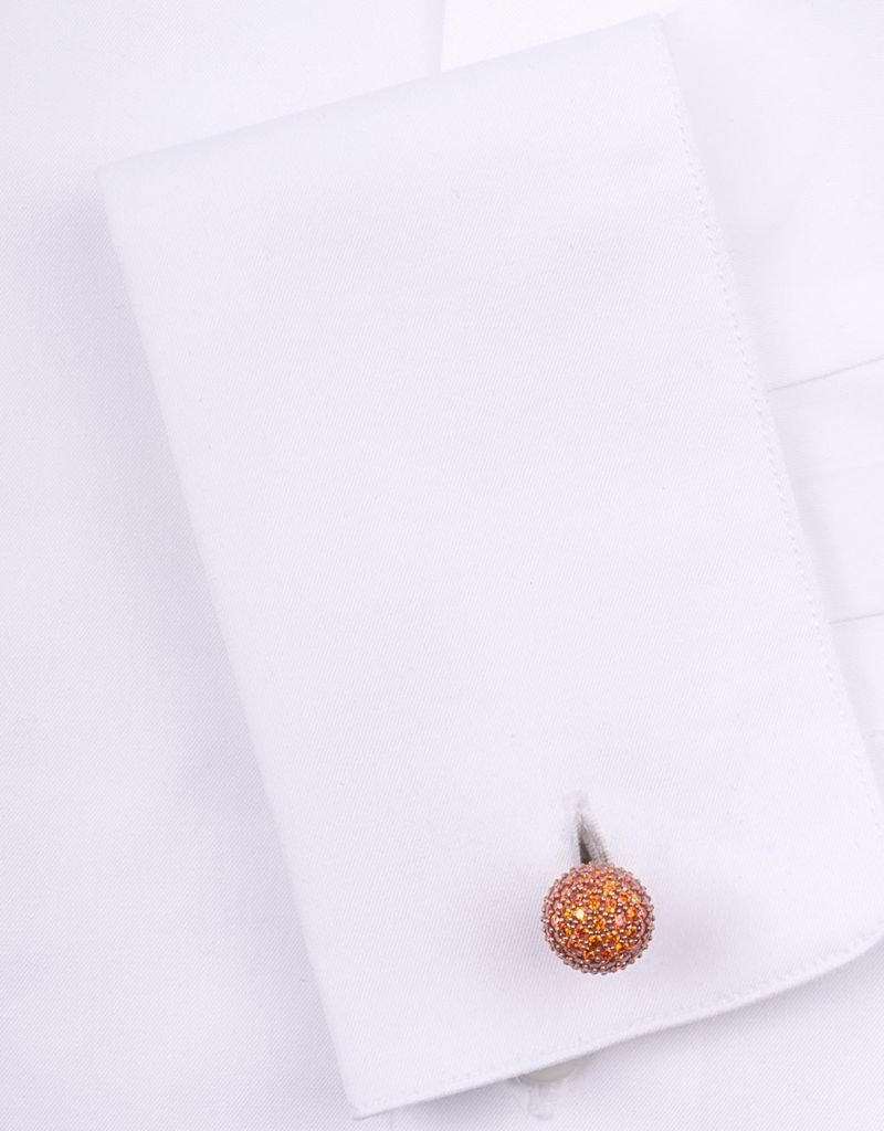 Peridot Encrusted cufflinks in Rose Gold