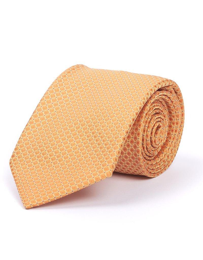 Orange Check Silk Tie