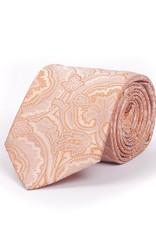 Orange Paisley Silk Tie
