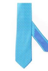 Small Check Turquoise, Silk Jacquard Tie