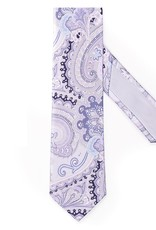 Silk Printed Lilac with Oversized Paisley Pattern