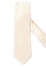 Silk Printed Tie, Black Microdot grid on Cream