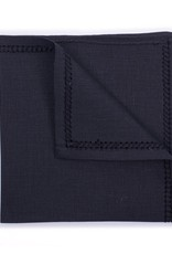 Linen Pocket Square, Black