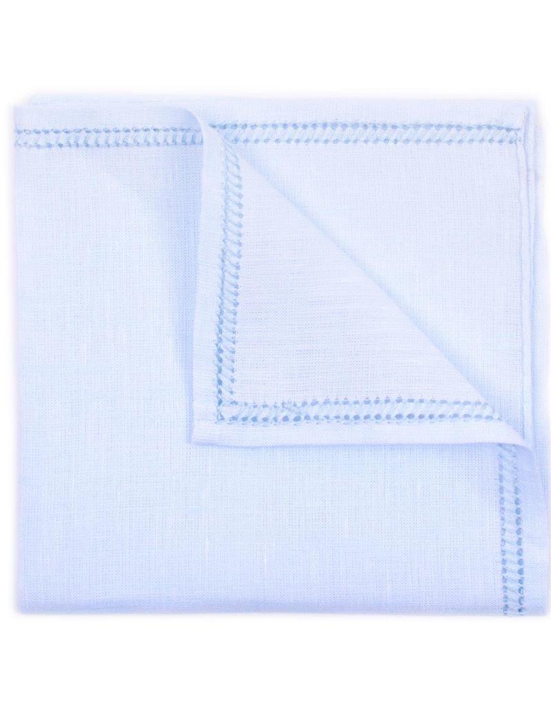 Linen Pocket Square, Sky Blue