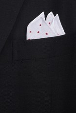 Pure Linen with red embroidered dots