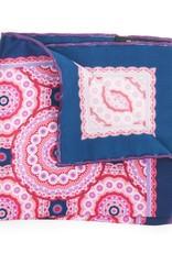Satin Medallion Print, Pink & Blue