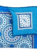 Satin Medallion Print, Blue
