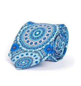 Blue Exploding Medallion Print