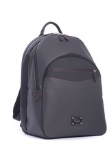 Carbon Fiber and Leather Backpack, Red Stitch