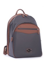 Carbon Fiber and Leather Backpack, Brown