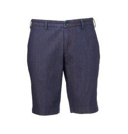 Printed Denim Shorts