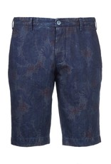Printed Denim Shorts , Floral Print