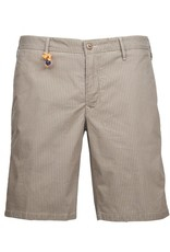 Striped Twill Shorts, Tan