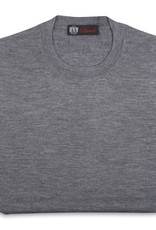 Cashmere / Silk Crew Neck Sweater, Gray