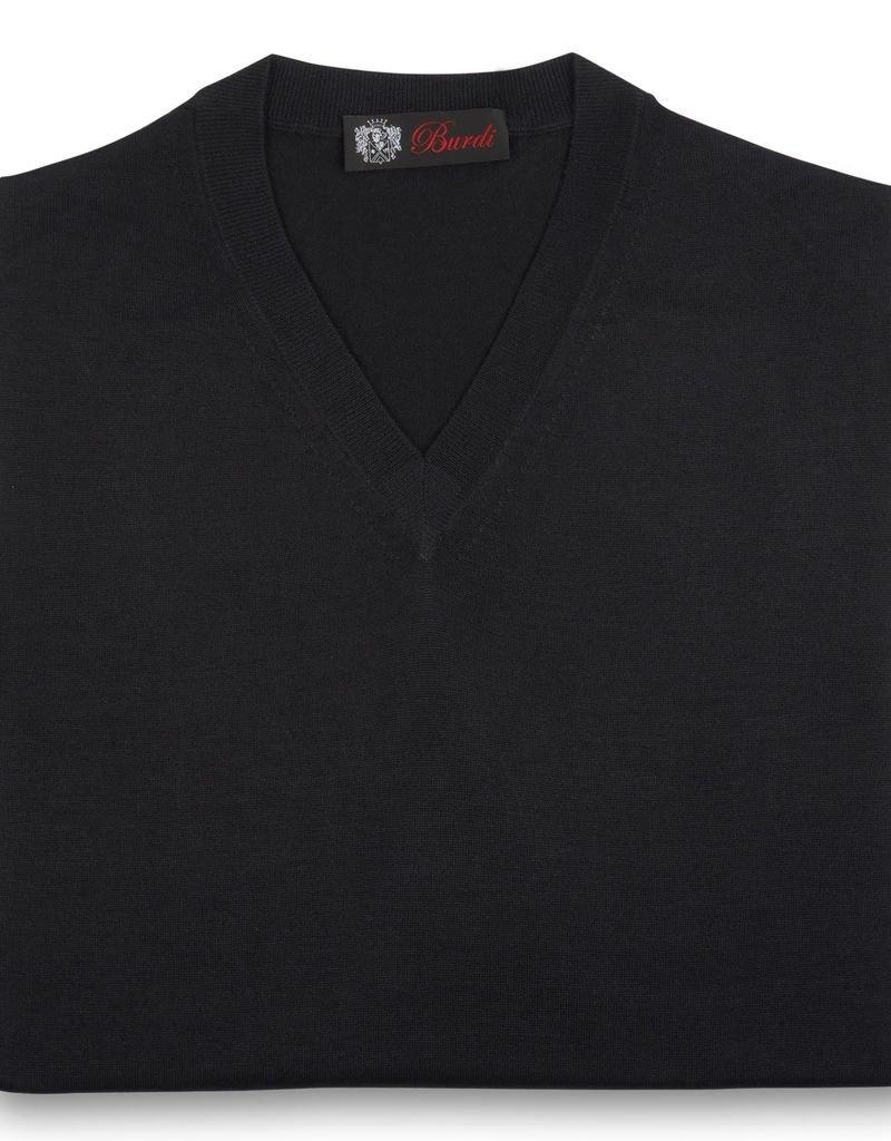 Cashmere / Silk V Neck Sweater, Black